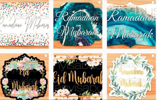 Seasonal Stickers and Tags (Ramadaan, Eid, Christmas etc)